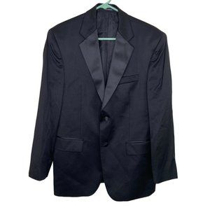 Pronto Uomo Black Wool Sport Coat Blazer